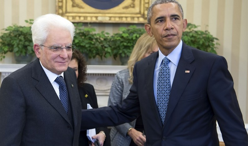 Washington: l'incontro tra Mattarella e Obama