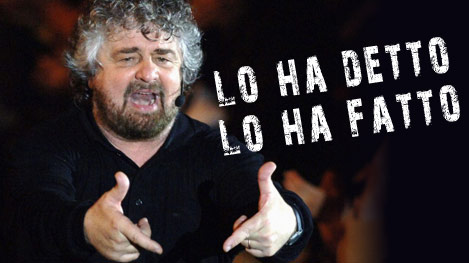 Beppe Grillo - Leader del Movimento 5 Stelle