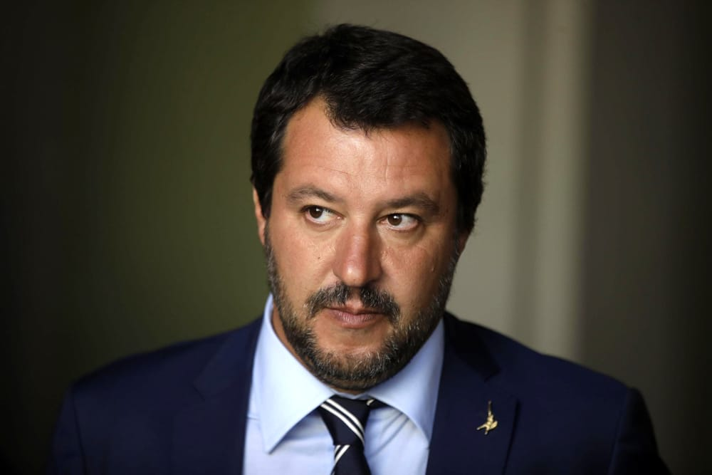 Il Vice premier e Ministro all'Interno Matteo Salvini