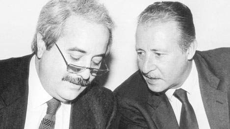 I Magistrati Antimafia Paolo Borsellino e Giovanni Falcone
