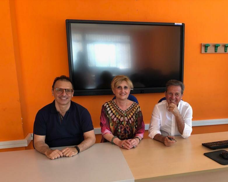 Maria Rosaria Russo con gli Avvocati Saccomanno e Talarico