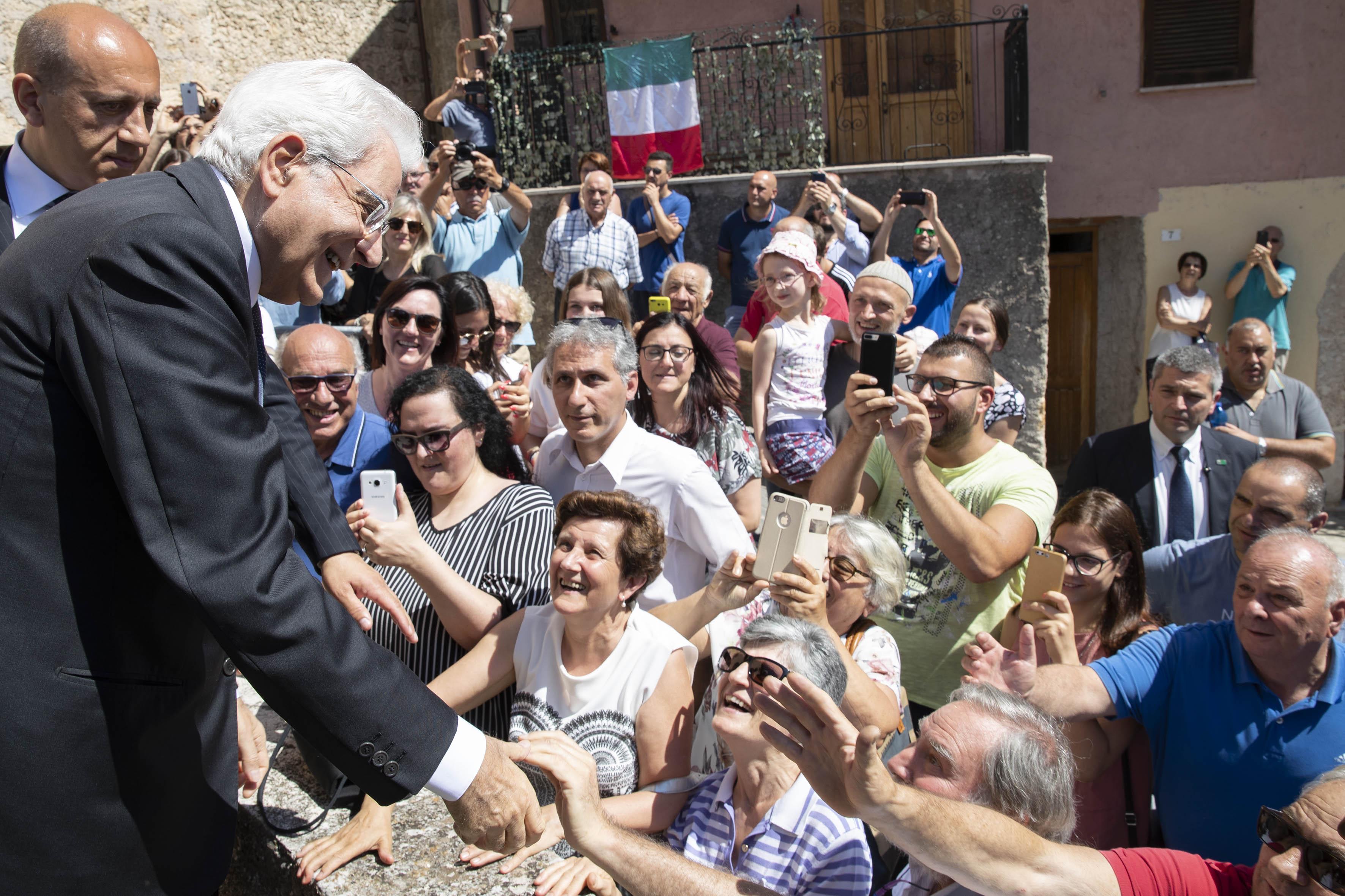 Il Presidente Sergio Mattarella a a Scurcola Marsicana,