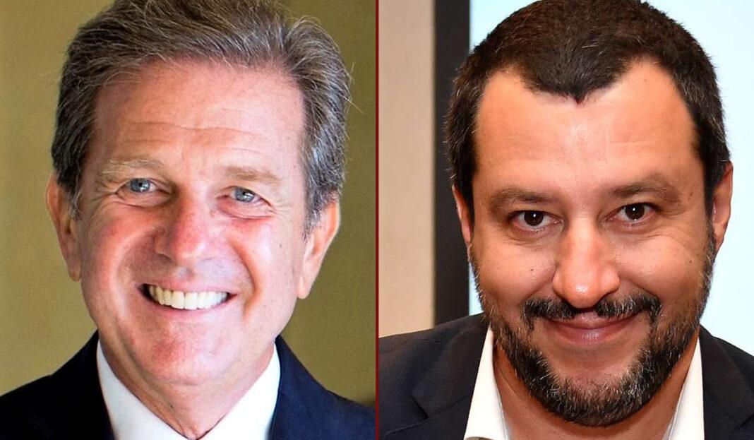 Da sx: Giacomo Saccomanno e Matteo Salvini