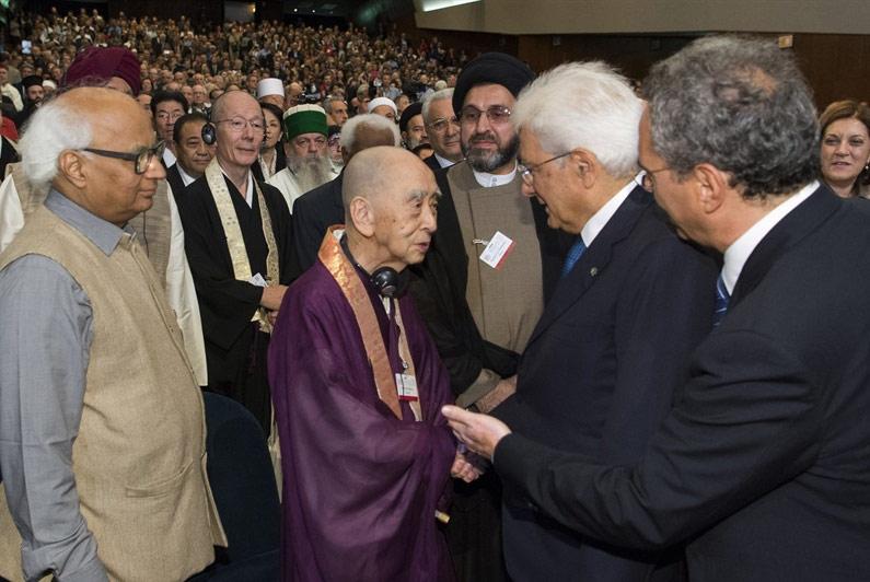 Il Presidente della repubblica Sergio Mattarella ad Assisi